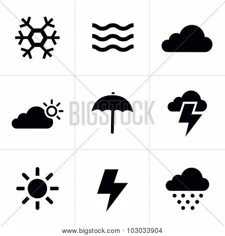 Weather  Icons Set, Vector Design