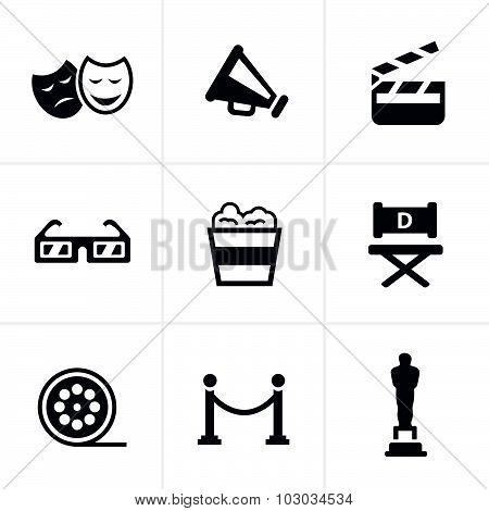 Movie Icons Vector Design