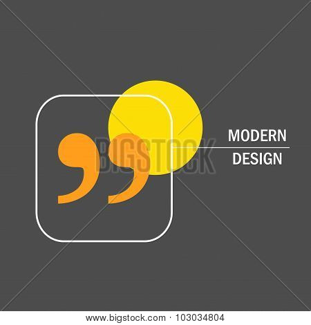 Modern vector design with quote text bubble