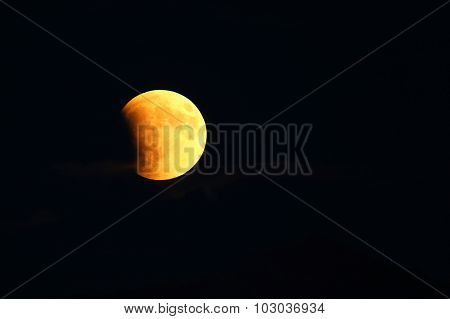 Total Lunar Eclipse Of A Supermoon On September 27, 2015 In Colorado, Usa. It Is The Latter Of Two T