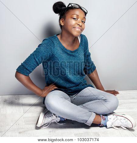 Fashionable Young Teenag Girl.
