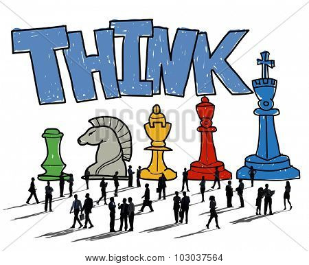 Think Thinking Planning Strategy Business Concept