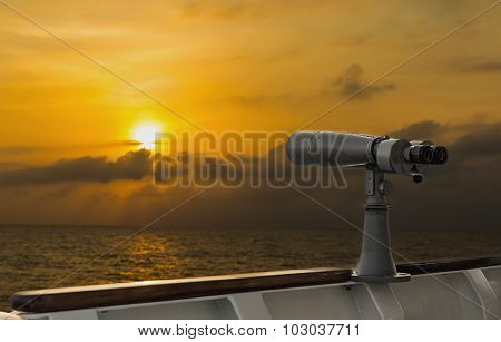 Scope On A Ship For The Lookout