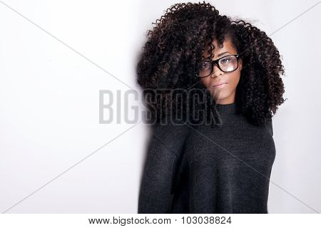 Portrait Of Young Pretty Girl.