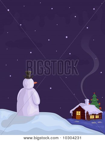 Christmas Eve With Snowman