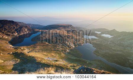 Mountain Lakes By Sunrise - Rila, Bulgaria