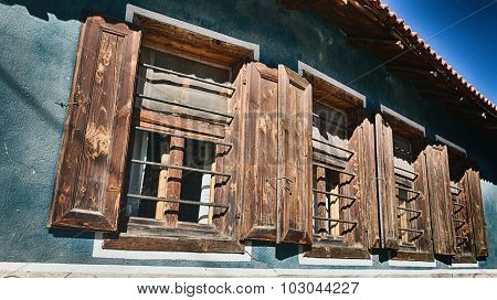 Old Windows On A House
