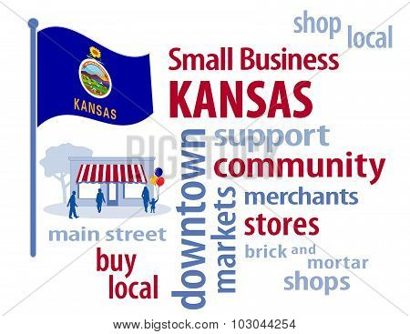 Kansas Flag, Small Business USA, The Sunflower State