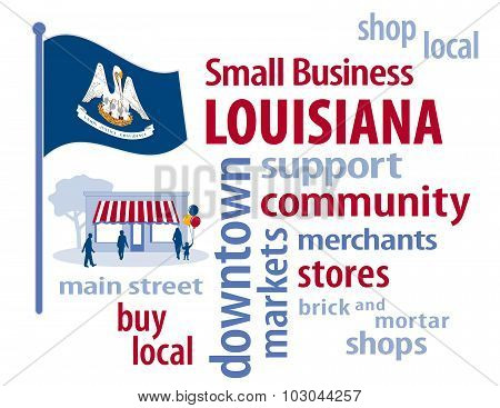 Louisiana Flag, Small Business USA, The Pelican State