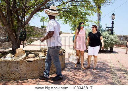 tourists in Cartagena