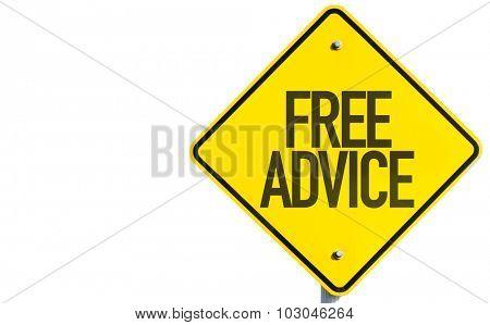 Free Advice sign isolated on white background