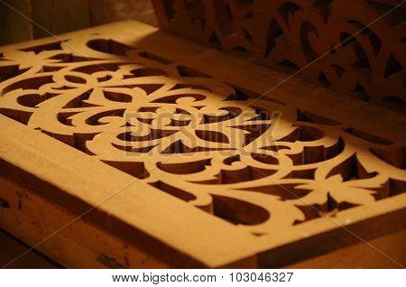 Malaysian traditional wood carving from Terengganu, Malaysia