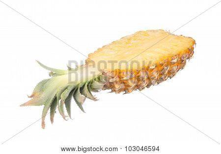 Sliced Pineapple Isolated On White