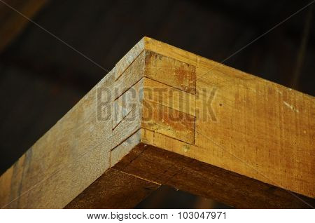 Malaysian traditional wood mortise from Terengganu