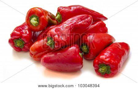 Ripe fresh red bell pepper, paprika