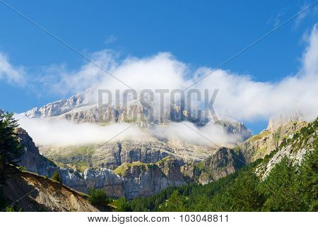 Rioseta Mountains in Pyrenees, Canfranc Valley, Aragon, Huesca, Spain.