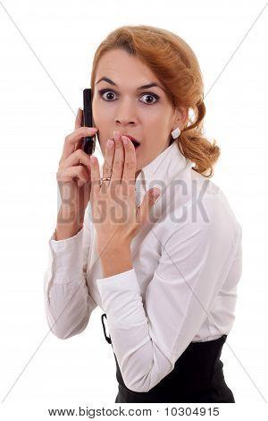 Woman Receiving Surprising News