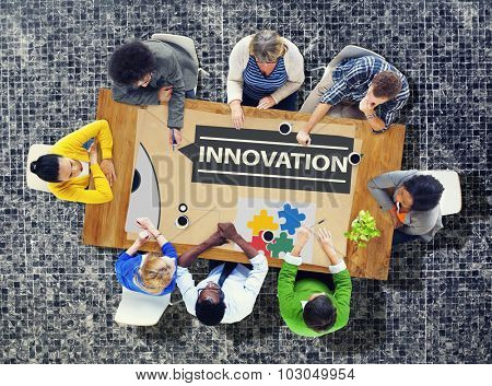 Innovation Plan Planning Ideas Action Launch Start Up Success Concept