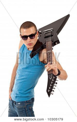 Guitar On Shoulder