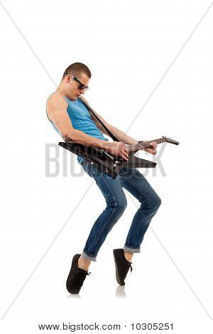 Tip Toe Guitar Player
