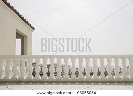 Classic railing design on the roof.