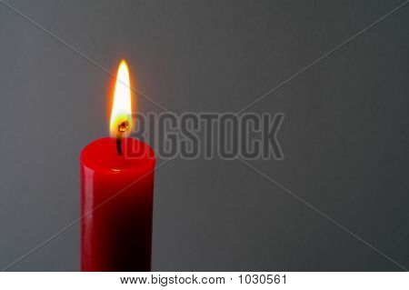 Red Lighted Candle (2)
