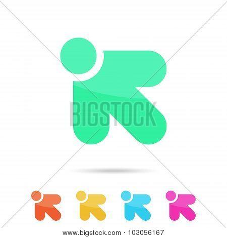 R Letter Sign