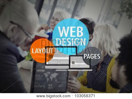 Web Design Layout Pages Development Website WWW Concept