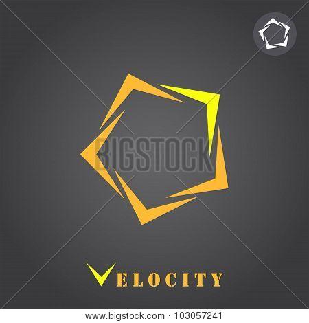 Pentagon Segmented Arrow Pointer