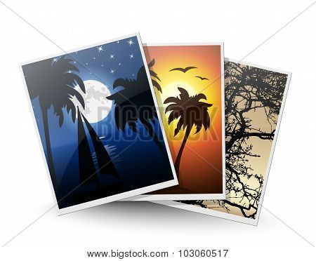 Travel Photos Icon. Vector Illustration