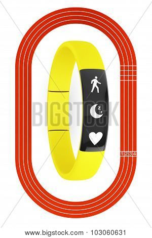 Fitness Tracker And Running Track