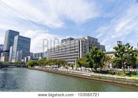 Osaka, Japan at Nakanoshima river district