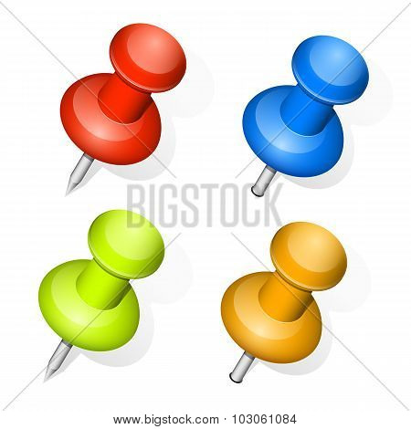Vector Push Pins
