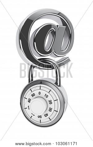 Email Symbol With Padlock