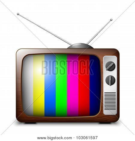 Retro Tv With Color Frame