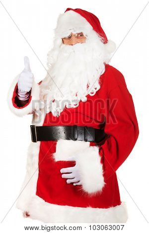 Happy Santa Claus with ok sign