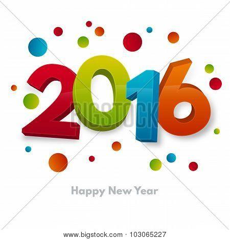 New Year 2016 Card