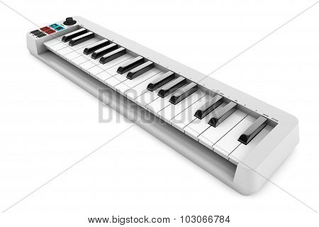 Digital Piano Synthesizer. 3D Rendering
