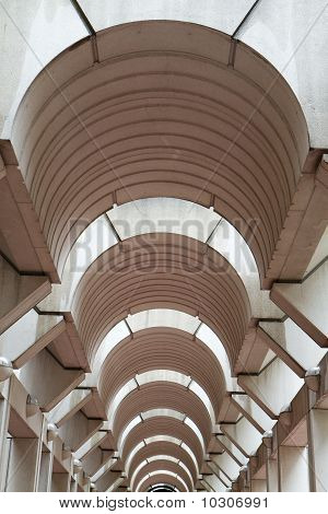 Modern Arched Hallway Ceiling Vertical