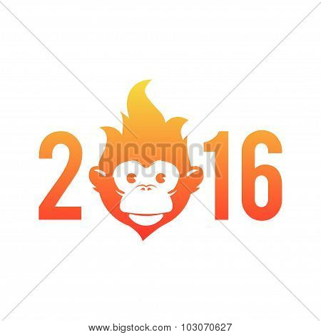 Symbol of the New Year is the Fire Monkey, inscribed in the figure zero.