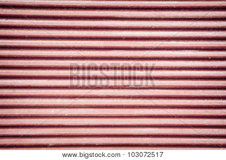 Red Corrugated Metal Sheet