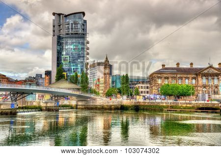 View Of Belfast With The