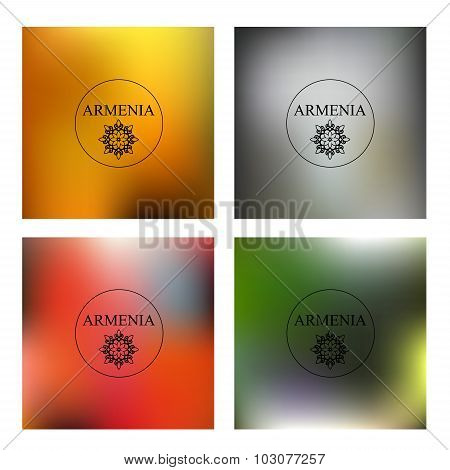 Armenia.set Of Blurred Background. Vector