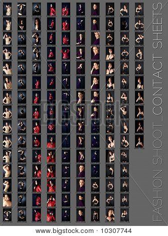 Professional Fashion Shoot Contact Sheet