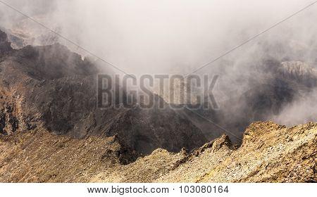 Misty Dreamy Landscape. Deep Misty Valley