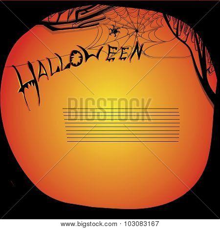 illustration of halloween board