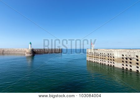 The Port Of Dielette, Normandy, France