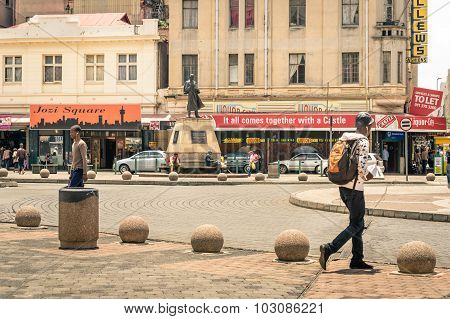 Johannesburg, South Africa - November 13, 2014: Everyday Life At Gandhi Square