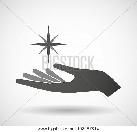 Isolated Hand Giving A Sparkle