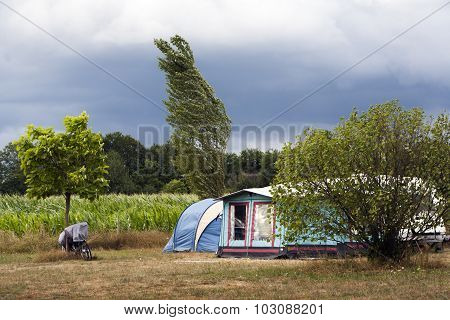 Windy Camping At The Farm